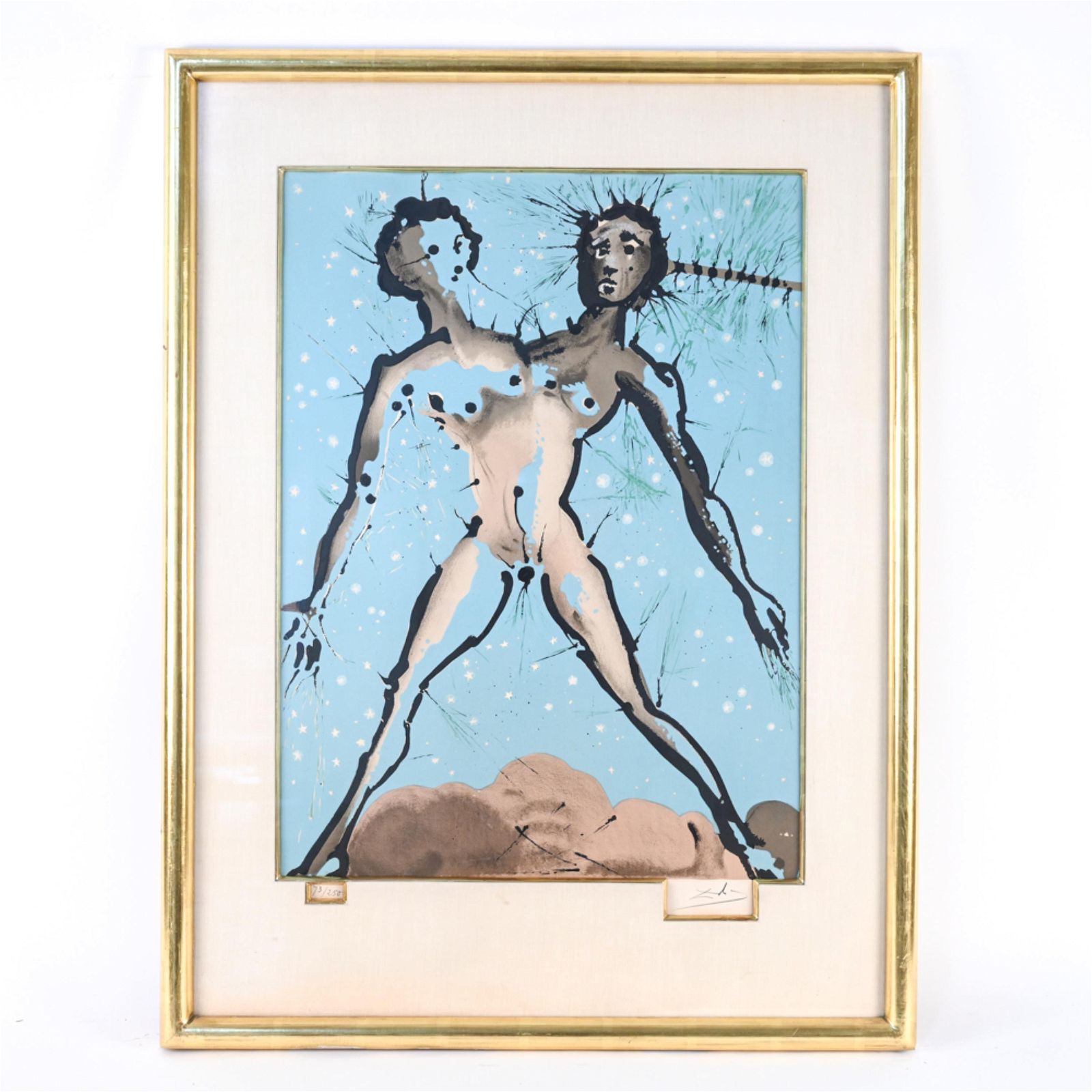 "SALVADOR DALI ORIGINAL LITHOGRAPH ""GEMINI"" 1967"