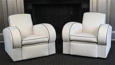 PAIR OF ART DECO CLUB CHAIRS