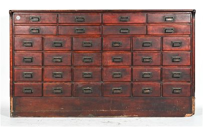 ANTIQUE W.B MCLEAN MFG. CO. APOTHECARY CABINET