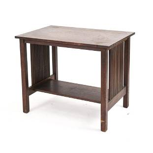AUTHENTIC STICKLEY SPINDLE SIDE LIBRARY TABLE