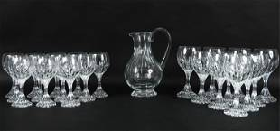 BACCARAT CRYSTAL STEMWARE AND PITCHER
