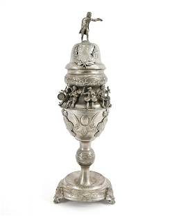RARE 18TH C. BAROQUE MUSICIAN PRESENTATION CUP