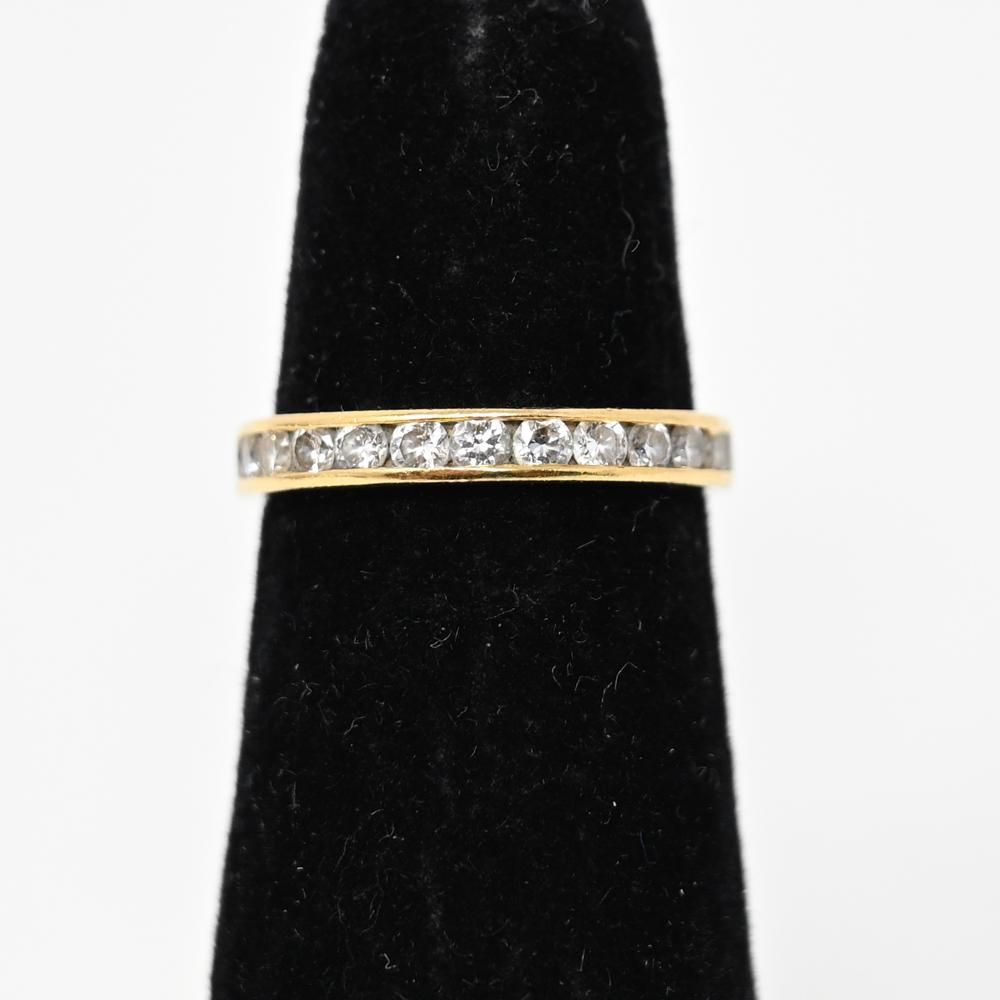 TIFFANY & CO 18K GOLD DIAMOND ETERNITY BAND