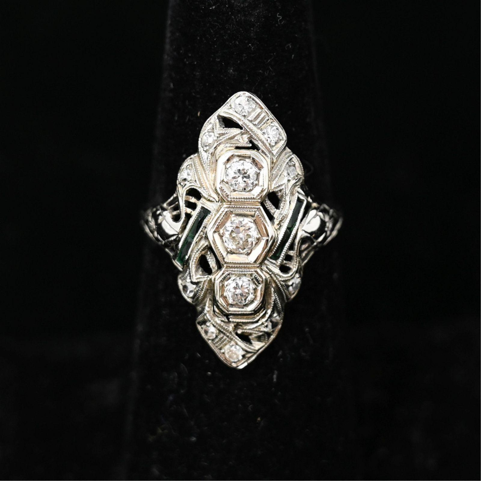 ART DECO DIAMOND COCKTAIL RING