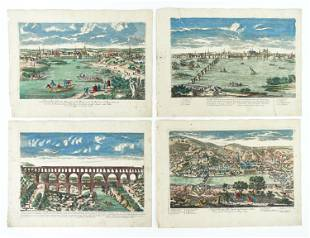 (4) P. A. AVELINE PARIS LATE 17TH CENTURY