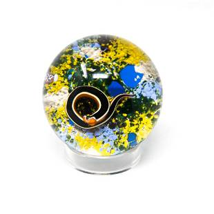 BACCARAT 1971 CRYSTAL SNAKE PAPERWEIGHT