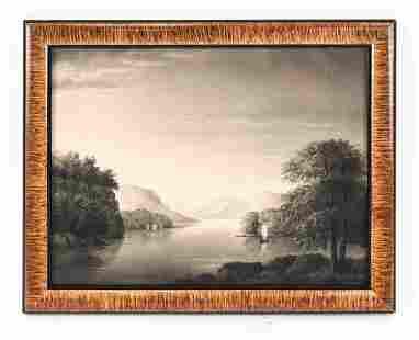 19TH C. HUDSON RIVER SCHOOL CHARCOAL