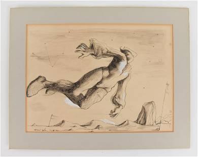 MICHEAL AYRTON, UK (1921-1975) PEN & INK DRAWING