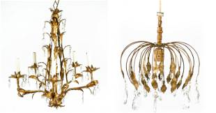(2) FRENCH VINTAGE CHANDELIERS