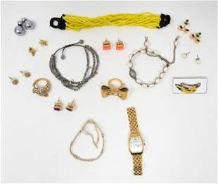 GROUP OF VINTAGE COSTUME JEWELRY INCL. WARHOL