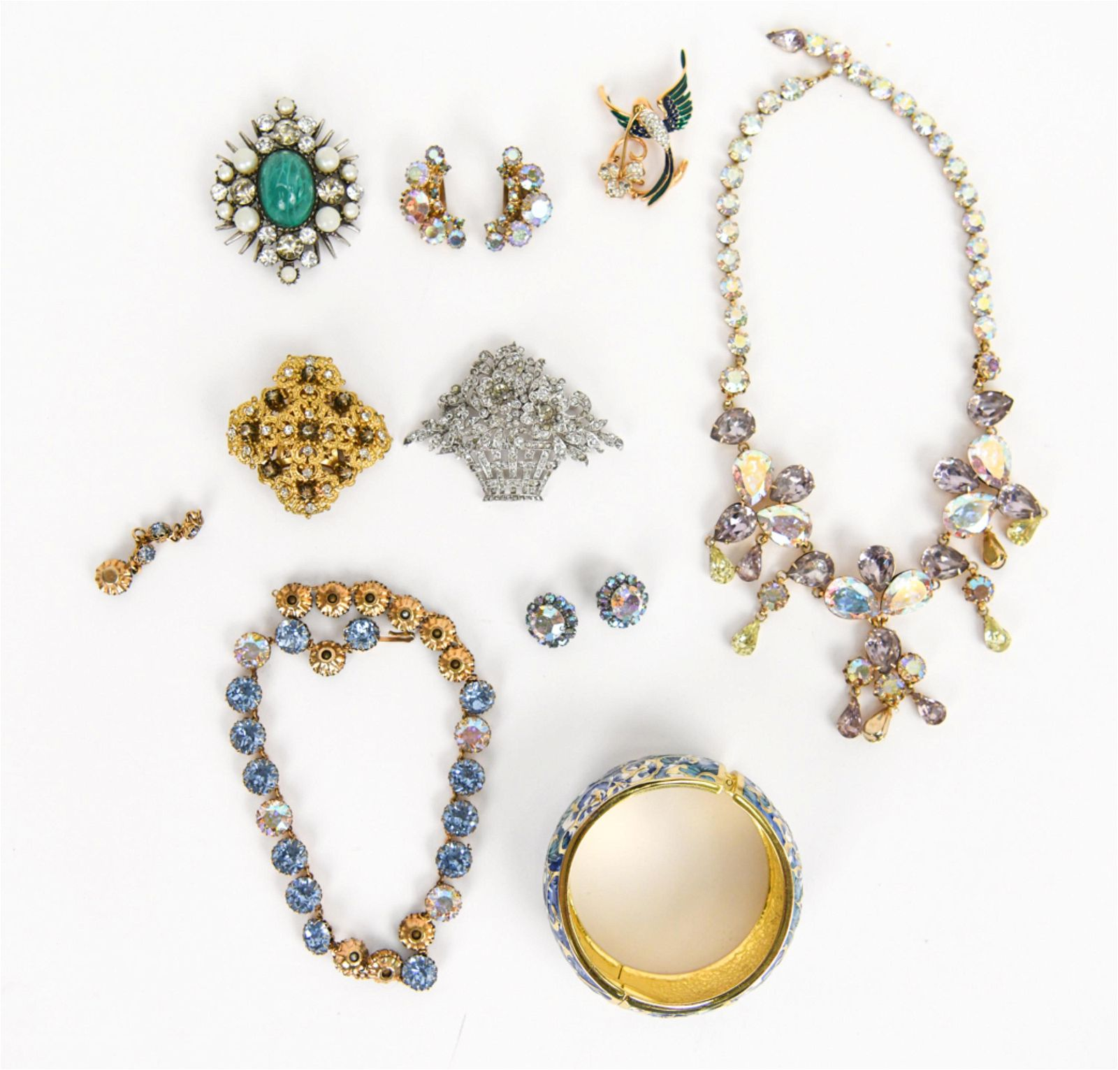 VINTAGE COSTUME JEWELRY INCL. AUSTRIAN CRYSTAL