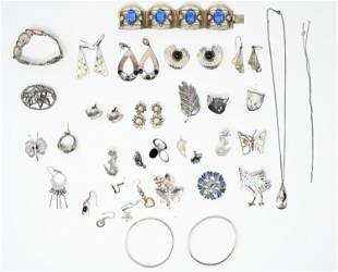 VINTAGE STERLING SILVER JEWERY- MOSTLY MEXICAN