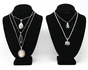 STERLING SILVER & STONE JEWELRY