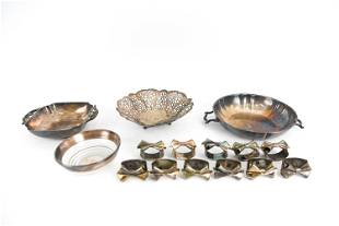 DECORATIVE SILVER PLATE GROUPING