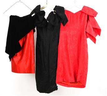 1980'S DEMI-COUTURE COCKTAIL DRESSES INCL. LANVIN