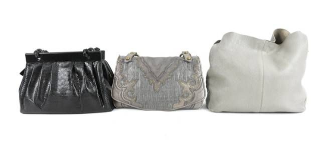 GROUPING OF (3) DESIGNER LEATHER BAGS INCL. SUAREZ