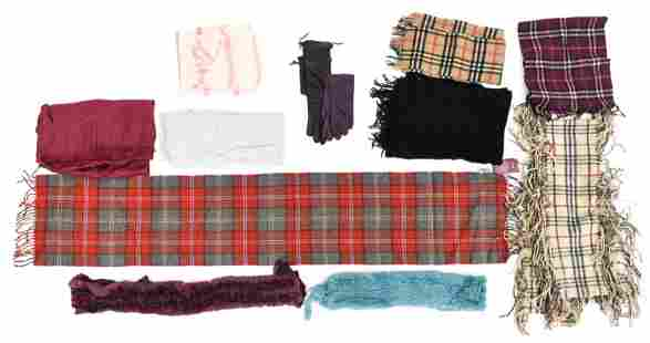 GROUPING OF WINTER SCARVES & GLOVES INCL. BURBERRY