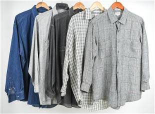 (5) VINTAGE CASUAL SHIRTS INCL. FACONNABLE, L/XL