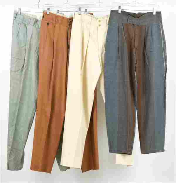 "(4) VINTAGE LIGHTWEIGHT PANTS INCL. MATSUDA 30-31"""