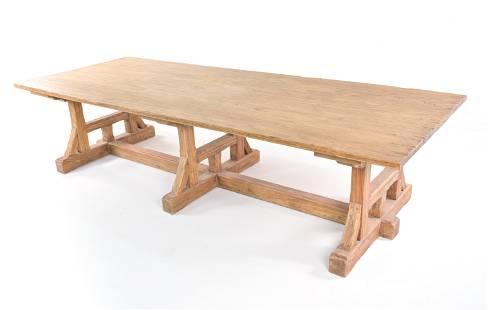 LARGE MODERN FARMHOUSE DINING TABLE