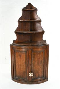 ANTIQUE FRENCH COUNTRY CORNER CABINET