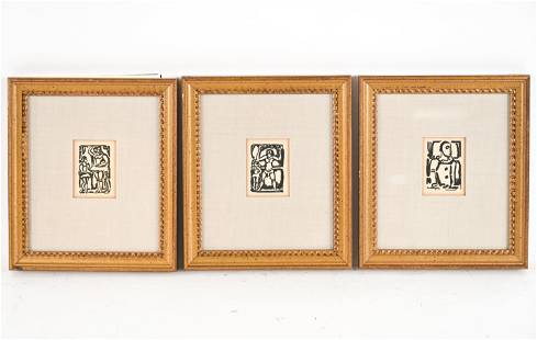 (3) GEORGES ROUALT COLLECTOR'S GUILD WOODCUTS