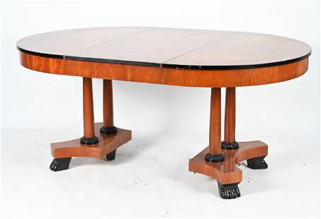 BAKER FURNITURE PALLADIAN PAW-FOOT DINING TABLE