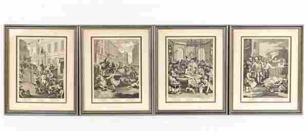 """WILLIAM HOGARTH """"THE FOUR STAGES OF CRUELTY"""""""