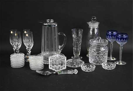 GROUPING OF CUT CRYSTAL, ETC.