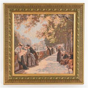 CONTEMPORARY FABRIC PICTURE OF PARIS