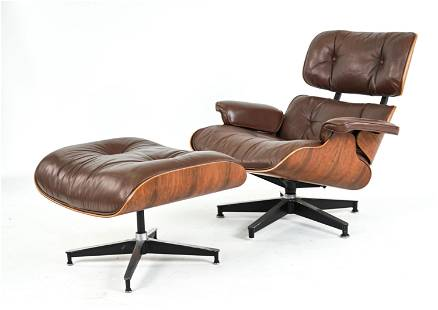 EAMES FOR HERMAN MILLER LOUNGE CHAIR & OTTOMAN