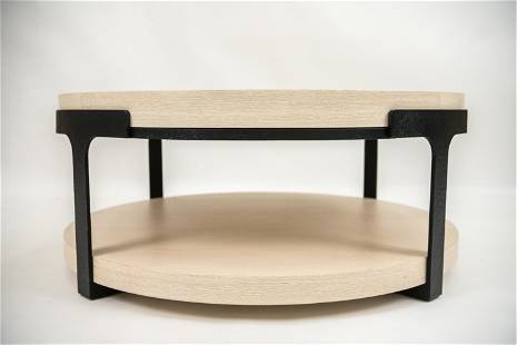 ROUND TUDOR COCKTAIL TABLE BY HOLLY HUNT