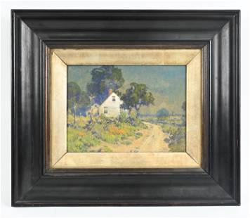 ARTS & CRAFTS PERIOD FARMHOUSE PAINTING