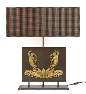 LOUIS XVI BRONZE CHERUB LAMP