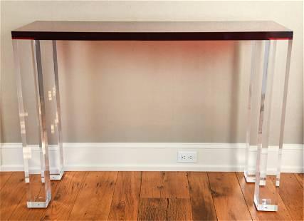 CONTEMPORARY CUSTOM ACRYLIC CONSOLE TABLE