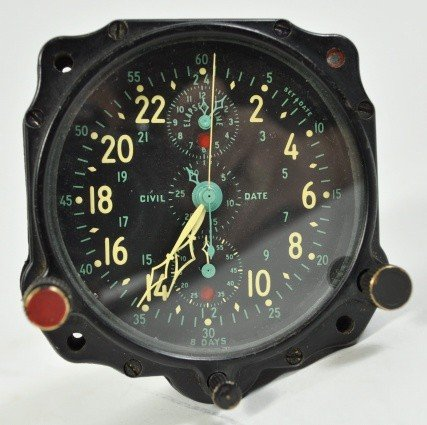 2: WWII JAEGER LECOUTRE FIGHTER PLANE CLOCK