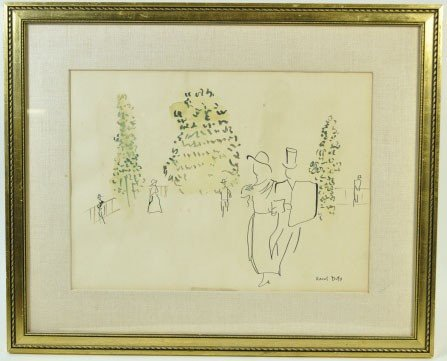 15: RAOUL DUFY  FRENCH (1877 - 1953) WATERCOLOR