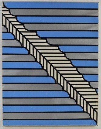 17: NICHOLAS KRUSHENICK (1929-1999) COLOR SILKSCREEN