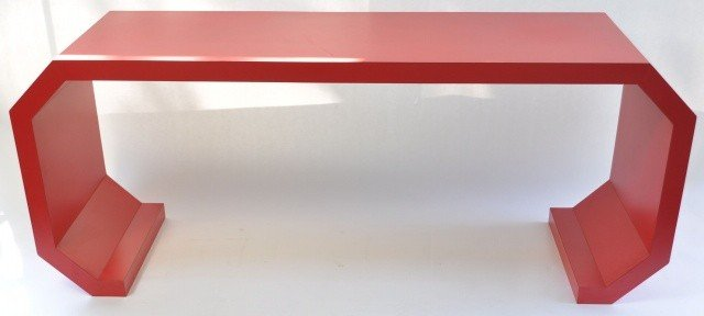 21: 1970S ORIENTAL STYLE CONSOLE TABLE