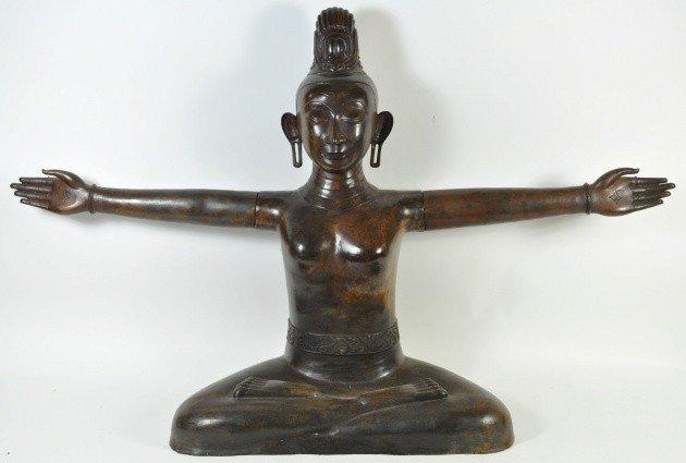 24: BRONZE BUDDUH, SEATED