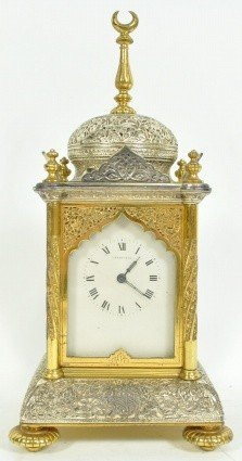 65: C. 1890 FRENCH CARRIAGE CLOCK RETAILED BY TIFFANY