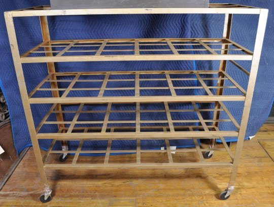 8: INDUSTRIAL MULTI SHELF ROLLING CART