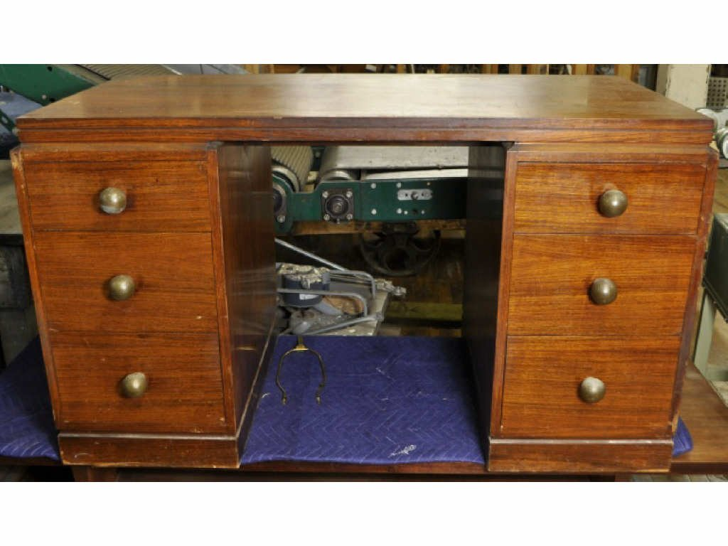 12: ART DECO ROSEWOOD DESK