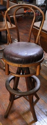 24: OAK TELEPHONE OPERATORS STOOL