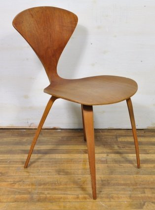NORMAN CHERNER BENT WOOD SIDE CHAIR