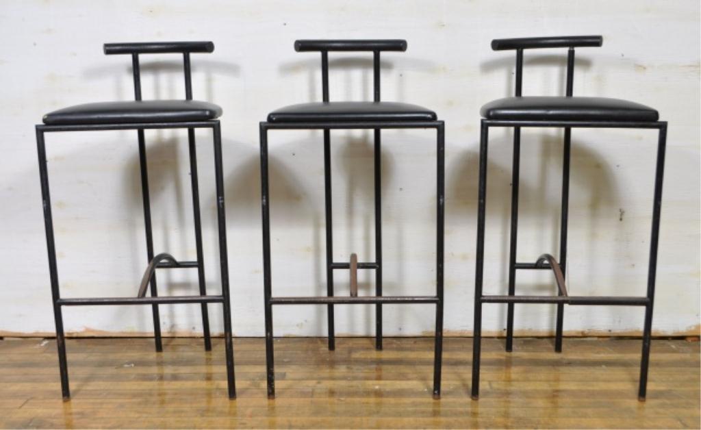 3 TOKYO STOOLS BY RODNEY KINSMAN FOR BIEFFEPLAST