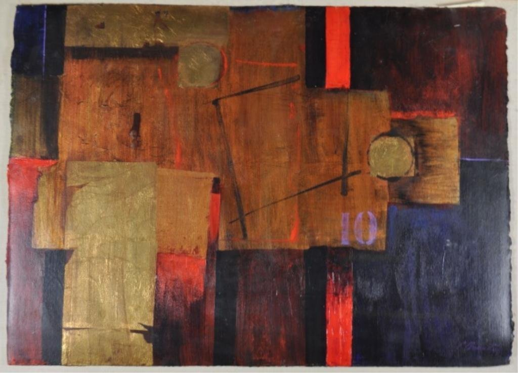 CONNIE ARVANITIS 1983 ABSTRACT PAINTING