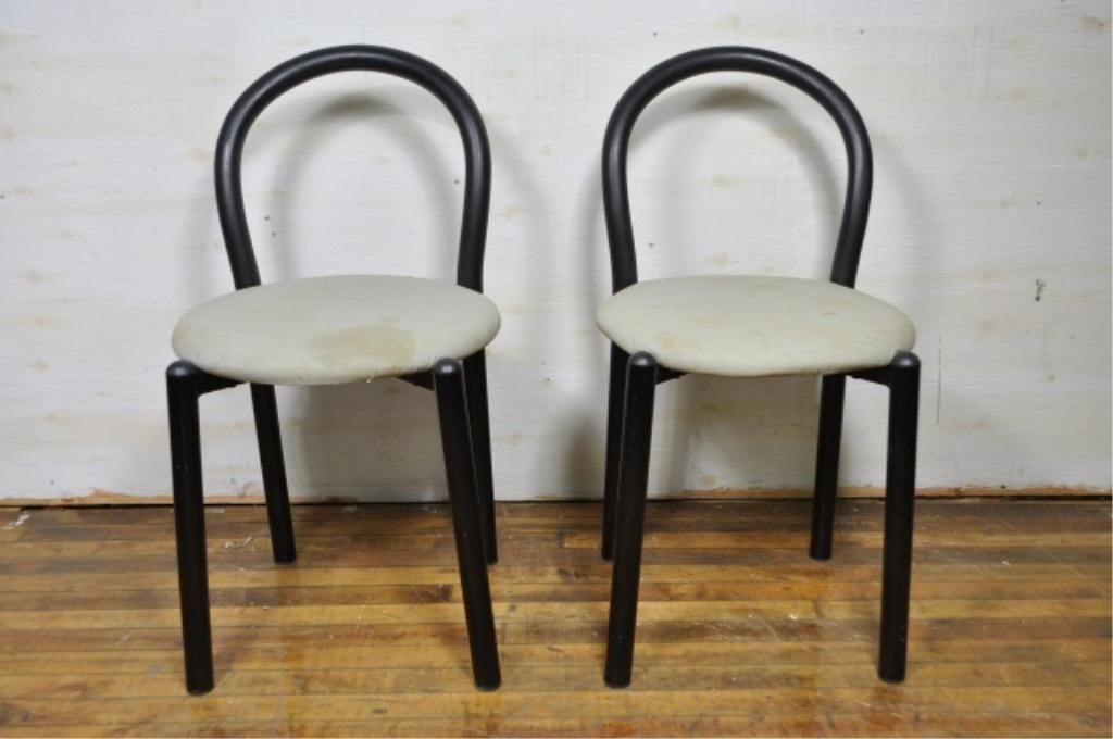 PAIR OF 1980S ITALIAN SIDE CHAIRS