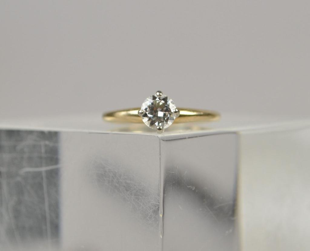 14K GOLD & DIAMOND ENGAGEMENT RING