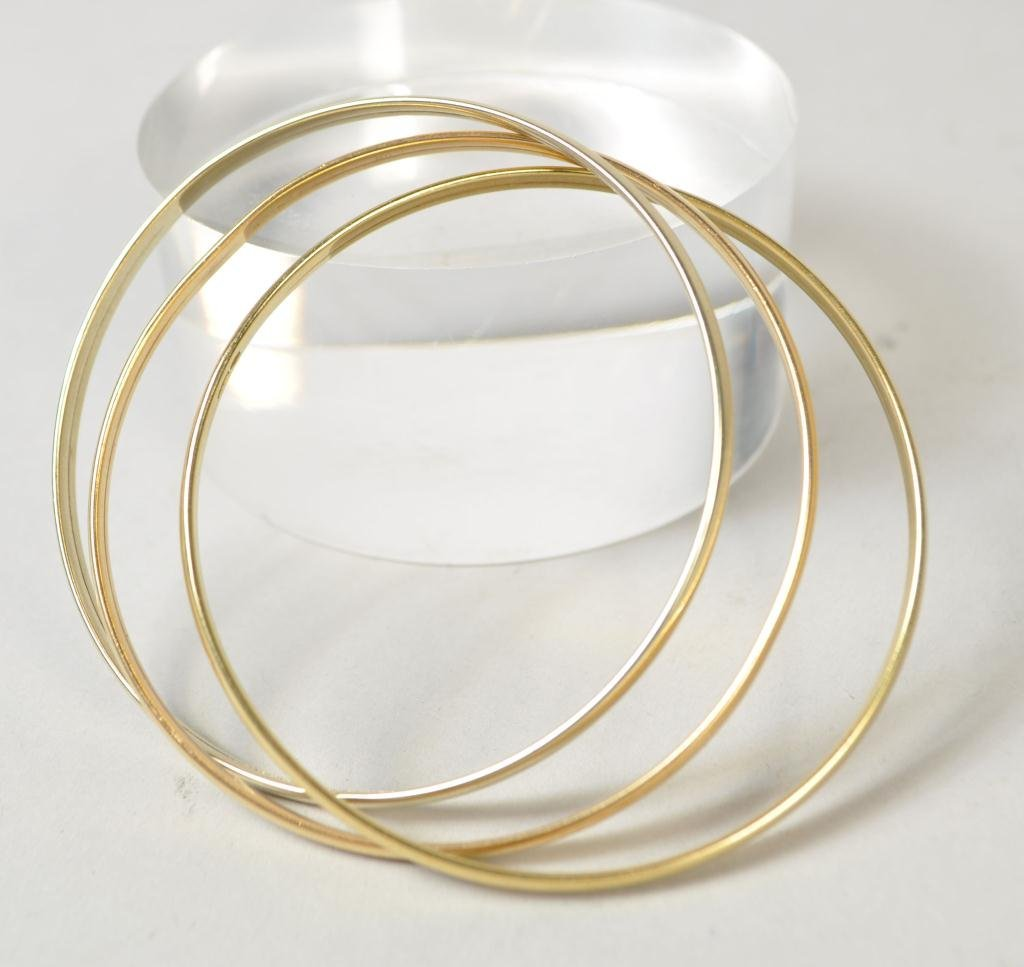 14K GOLD THREE BANGLE BRACELET